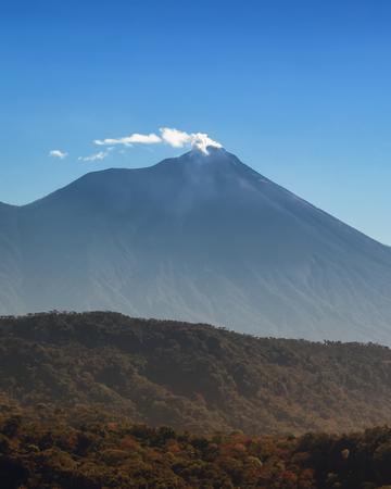 Fuego volcano in Guatemala, Central America which recently erupted in June 2018