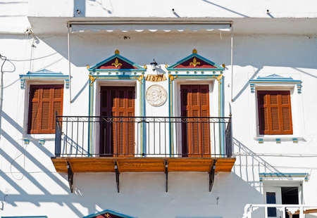 beautiful balcony in Batsi on the island of Andros (famous Cyclades island in the heart of the Aegean Sea) from which Juliet could have listened to the serenades that Romeo sang to her