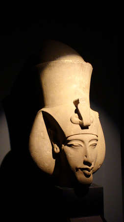 Mysterious bust of a famous pharaoh of ancient Egypt