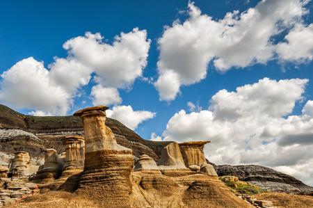 hoodoos: Landscape of Hoodoos and clouds