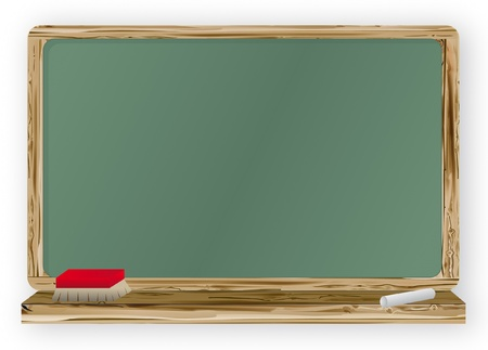 home school: Blackboard Illustration