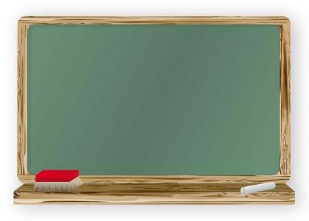 school table: Blackboard Illustration