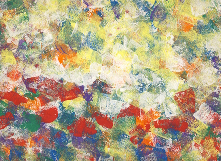 The field - abstract painting with acrylics Stok Fotoğraf