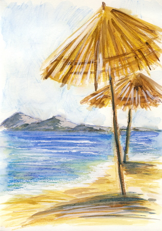 Summer day - drawing with watersoluble pastel