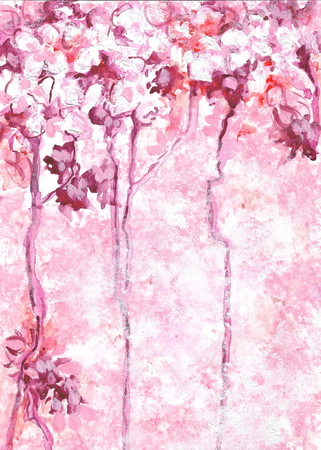 Abstract pink background inspired by the blooming trees
