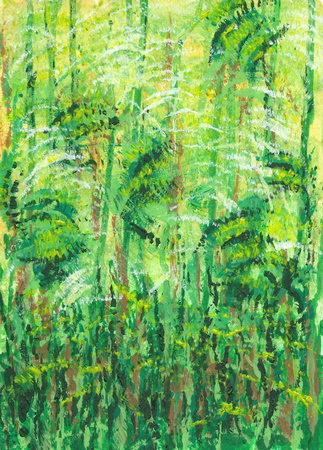 Abstract green background inspired by the nature