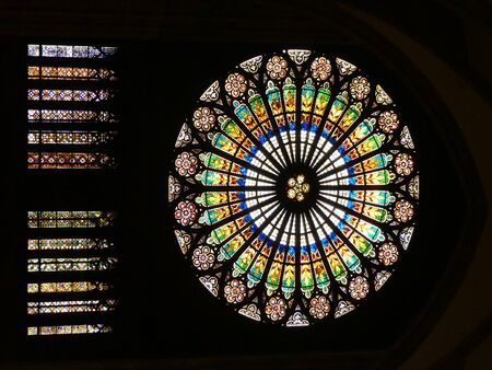 Stained glass windows from Cathedral Notre Dame, Strasbourg, Alsace, France
