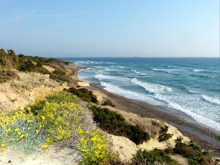 Coastline view of Kos Island, Greece Stock Photo