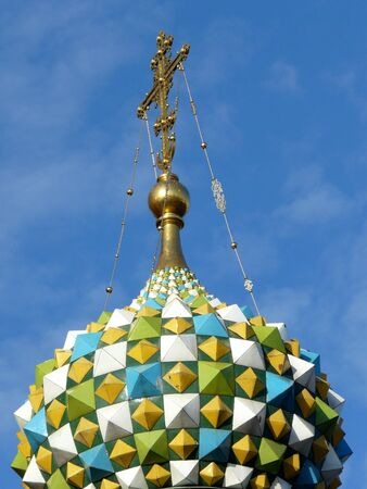 Cross on Church of the Savior on Spilled Blood in St Petersburg