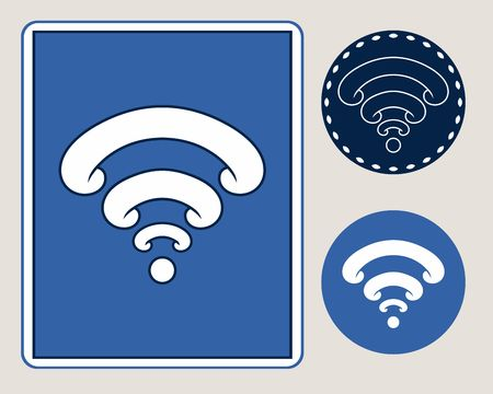 Wireless icon. Vector Illustration, technology symbol, digital sign.