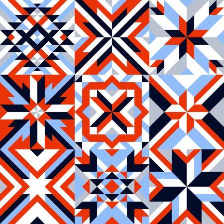 Geometric Colorful Pattern. Ilustração