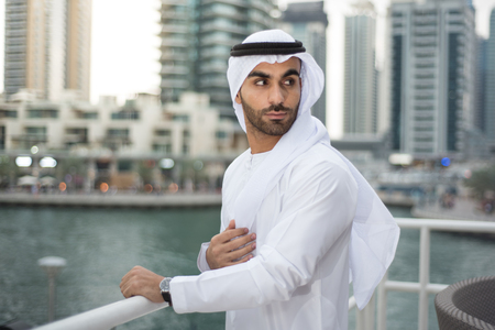 traditional clothes: Arab Emirati Man in Traditional Clothes in Dubai