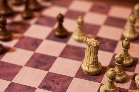 One of the typical strategy openings in chess - Vienna game
