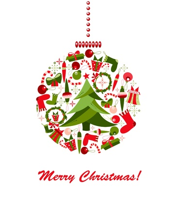 mistletoe: Decoration sphere made of Christmas elements