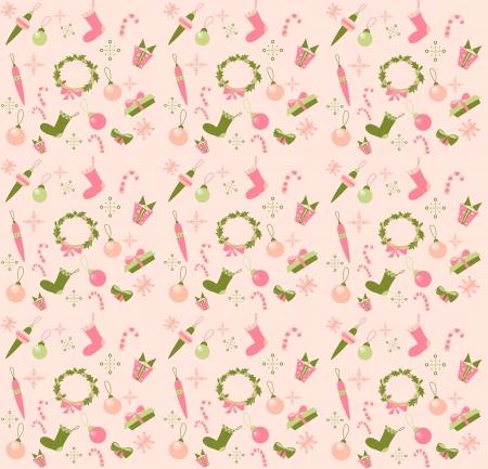 adventskranz: Vektor-Illustration des neuen Jahres Elementen Muster, Schneeflocken, Adventskranz, Zuckerstangen, Kugeln, Dekorationen, Str�mpfe, Geschenke und Gegenwart umfasst Illustration