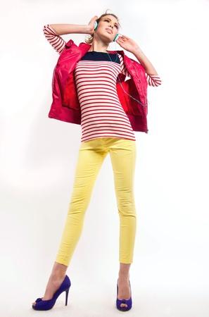 Studio shot of young pretty teenage girl Stock Photo - 17128279