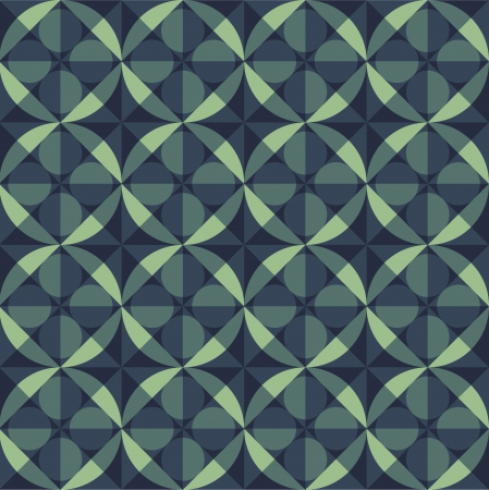 tints: geometric seamless pattern background made of circle, square, diamond, diagonal lines of blue green shades and tints