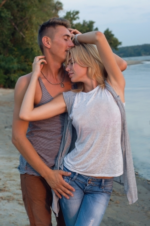 Young passionate pretty couple photo