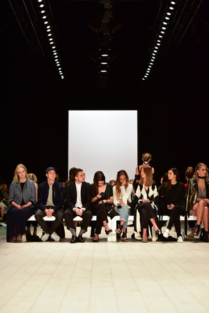 ruche: SYDNEY  AUSTRALIA - 18 May: Guests celebrities and visitors watch show on runway during CMeo Collective female fashion collection during Mercedes Benz Fashion Week Australia on 18 May 2016 in Carriageworks Sydney