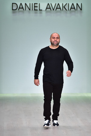 finale: SYDNEY  AUSTRALIA - MAY 18: Designer Daniel Avakian comes out to public at finale of his collection fashion show on runway during Mercedes Benz Fashion Week Australia on 18 May 2016 in Carriageworks in Sydney