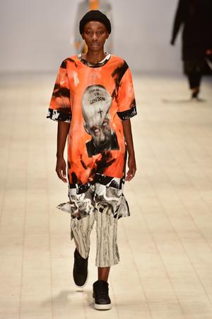 pragmatic: SYDNEY  AUSTRALIA - 20 May: Model walks on runway during Oxblood show at The Innovators fashion design studio during Mercedes Benz Fashion Week Australia on 20 May 2016 in Carriageworks Sydney Editorial