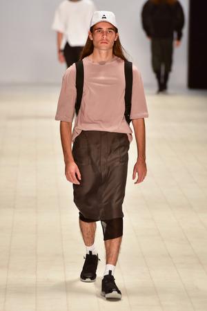 pragmatic: SYDNEY  AUSTRALIA - 20 May: Model walks on runway during Mandem show inspired by samurai and Egypt at The Innovators fashion design studio during Mercedes Benz Fashion Week Australia on 20 May 2016 in Carriageworks Sydney