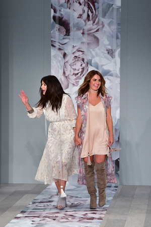SYDNEY  AUSTRALIA - MAY 18: Designers come to public at finale runway during We Are Kindred fashion show Mercedes Benz Fashion Week Australia on 18 May 2016 in Carriageworks in Sydney Editorial