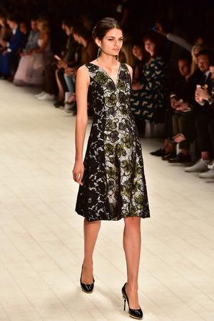 SYDNEY  AUSTRALIA - 20 May: Model walks on runway during Oscar de la Renta collection fashion show at Mercedes Benz Fashion Week Australia on 20 May 2016 in Carriageworks Sydney Editorial