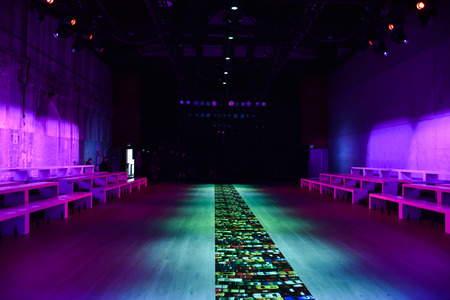 SYDNEY  AUSTRALIA - 20 May: Empty runway stage behind the scene before start of Bianca Spender backstage fashion show at Mercedes Benz Fashion Week  Australia on 20 May 2016 in Carriageworks Sydney