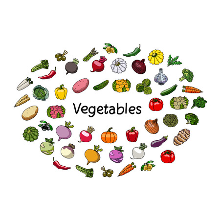 A vegetables and word. Vegetarianism.