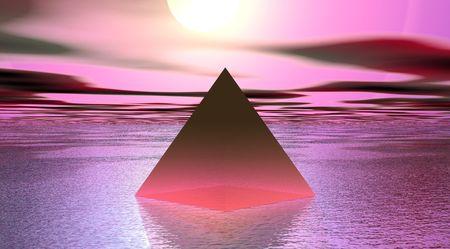 pyramid pink Stock Photo