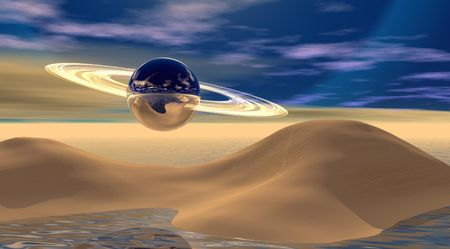 desert and saturnp photo