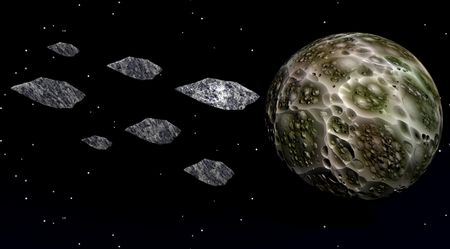 moon and meteorites Stock Photo - 6158919