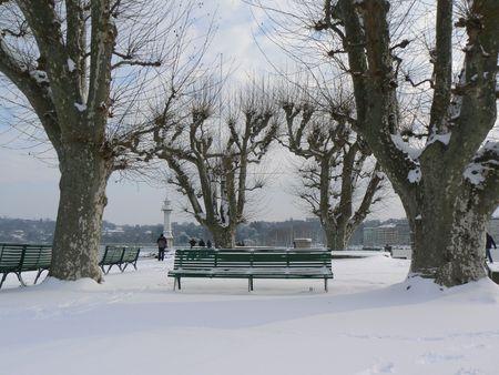 landscape winter in Geneva