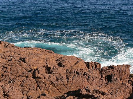 mountain red and sea Stock Photo - 6891874