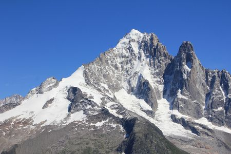 Mont-Blanc and sky blue and white