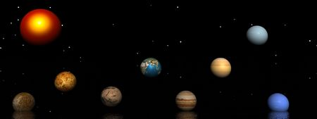 planets and sun Stock Photo - 7742314
