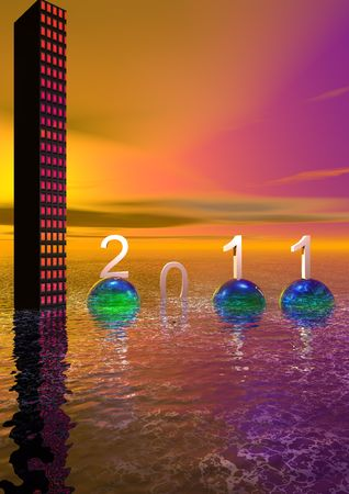 hapyy new year and colors Stock Photo - 8164643
