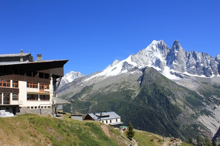 mountain and Mont-Blanc photo