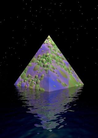 purpule: pyramid purpule and green