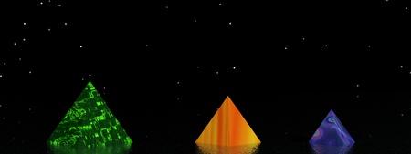 purpule: landscape pyramids