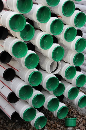 local supply: pipe road green and white