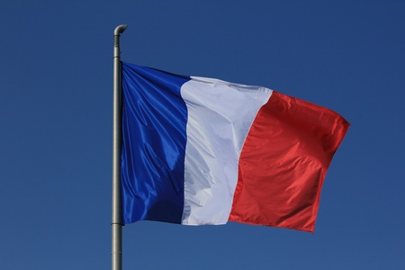 french flag blue white and red photo