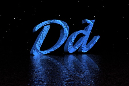 letter d blue and black photo