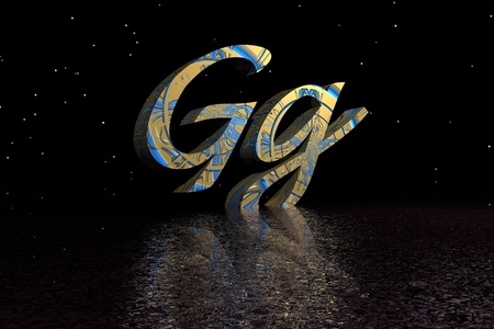 letter g blue and yellow photo