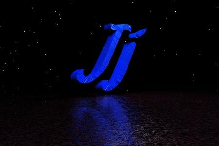 letter j blue photo