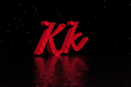 letter k red photo