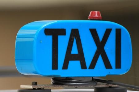 car taxi blue photo