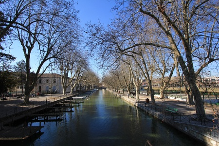 Annecy trees and lake Stock Photo - 9688542