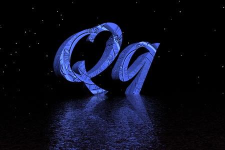 letter q blue photo